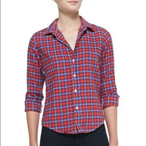 Frank & Eileen Two-Tone Plaid Flannel Top Barry